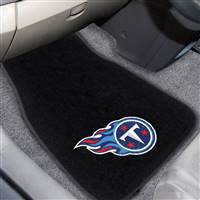 "NFL - Tennessee Titans 2-pc Embroidered Car Mat Set 17""x25.5"""