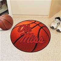 "University of Mississippi (Ole Miss) Basketball Mat 27"" diameter"