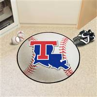 "Louisiana Tech Bulldogs Baseball Rug 29"" Diameter"
