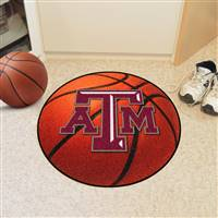"Texas A&M Aggies Basketball Rug 29"" Diameter"