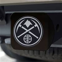 "NBA - Denver Nuggets Hitch Cover - Chrome on Black 3.4""x4"""