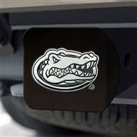 "University of Florida Hitch Cover - Chrome on Black 3.4""x4"""
