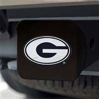 "University of Georgia Hitch Cover - Chrome on Black 3.4""x4"""