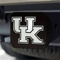 "University of Kentucky Hitch Cover - Chrome on Black 3.4""x4"""