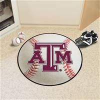 "Texas A&M Aggies Baseball Rug 29"" diameter"
