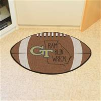 "Georgia Tech Southern Style Football Mat 20.5""x32.5"""