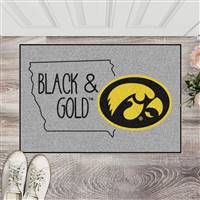 "University of Iowa Southern Style Starter Mat 19""x30"""