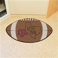 "Texas A&M University Southern Style Football Mat 20.5""x32.5"""