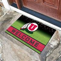 "University of Utah Crumb Rubber Door Mat 18""x30"""