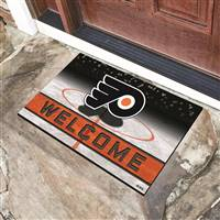 "NHL - Philadelphia Flyers Crumb Rubber Door Mat 18""x30"""