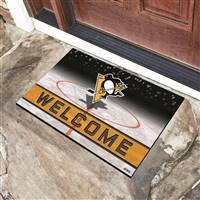 "NHL - Pittsburgh Penguins Crumb Rubber Door Mat 18""x30"""