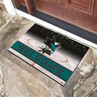 "NHL - San Jose Sharks Crumb Rubber Door Mat 18""x30"""