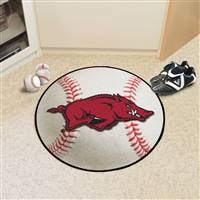 "Arkansas Razorbacks Baseball Rug 29"" Diameter"