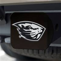 "Oregon State University Hitch Cover - Chrome on Black 3.4""x4"""