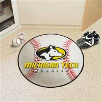 "Michigan Tech University Baseball Mat 27"" diameter"