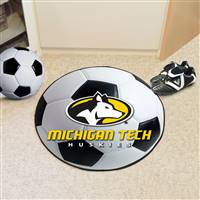 "Michigan Tech University Soccer Ball Mat 27"" diameter"
