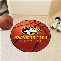 "Michigan Tech Huskies Basketball Rug, 29"" Diameter"
