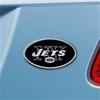 "NFL - New York Jets Chrome Emblem 3""x3.2"""