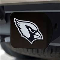 "NFL - Arizona Cardinals Hitch Cover - Chrome on Black 3.4""x4"""