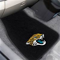 "NFL - Jacksonville Jaguars  2-pc Embroidered Car Mat Set  17""x25.5"""