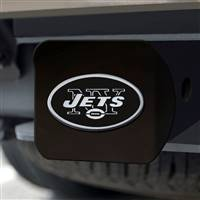 "NFL - New York Jets Hitch Cover - Chrome on Black 3.4""x4"""
