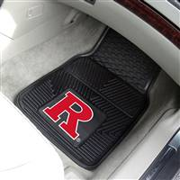 "Rutgers University 2-pc Vinyl Car Mat Set 17""x27"""