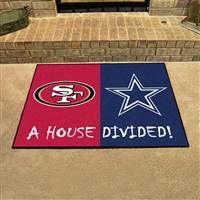 "NFL House Divided - 49ers / Cowboys House Divided Mat 33.75""x42.5"""