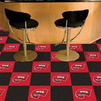 "Western Kentucky University Team Carpet Tiles 18""x18"" tiles"