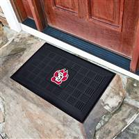 "University of South Dakota Medallion Door Mat 19.5""x31.25"""