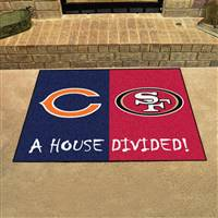 "House Divided - Bears / 49ers House Divided Mat 33.75""x42.5"""