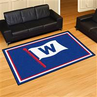 "Chicago Cubs 5x8 Rug 59.5""x88"""