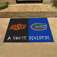 "House Divided - Oklahoma State / Florida House Divided Mat 33.75""x42.5"""