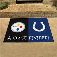 "NFL House Divided - Steelers / Colts House Divided Mat 33.75""x42.5"""