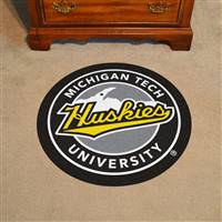"Michigan Tech University Roundel Mat 27"" diameter"