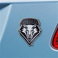 "University of New Mexico Chrome Emblem 2.7""x3.2"""