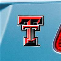 "Texas Tech University Color Emblem  2.7""x3.2"""