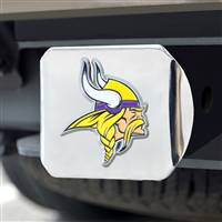 "NFL - Minnesota Vikings Color Hitch Cover - Chrome3.4""x4"""