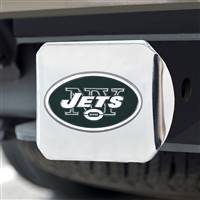 "NFL - New York Jets Color Hitch Cover - Chrome3.4""x4"""