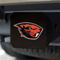 "Oregon State University Hitch Cover - Color on Black 3.4""x4"""