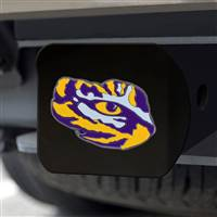"Louisiana State University Hitch Cover - Color on Black 3.4""x4"""