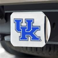 "University of Kentucky Color Hitch Cover - Chrome 3.4""x4"""