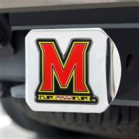 "University of Maryland Color Hitch Cover - Chrome 3.4""x4"""