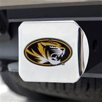"University of Missouri Color Hitch Cover - Chrome 3.4""x4"""