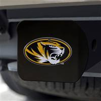 "University of Missouri Hitch Cover - Color on Black 3.4""x4"""