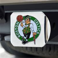 "NBA - Boston Celtics Color Hitch Cover - Chrome 3.4""x4"""