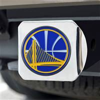 "NBA - Golden State Warriors Color Hitch Cover - Chrome 3.4""x4"""