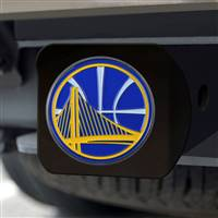 "NBA - Golden State Warriors Hitch Cover - Color on Black 3.4""x4"""