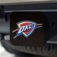 "NBA - Oklahoma City Thunder Hitch Cover - Color on Black 3.4""x4"""