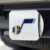 "NBA - Utah Jazz Color Hitch Cover - Chrome 3.4""x4"""