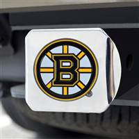 "NHL - Boston Bruins Color Hitch Cover - Chrome 3.4""x4"""